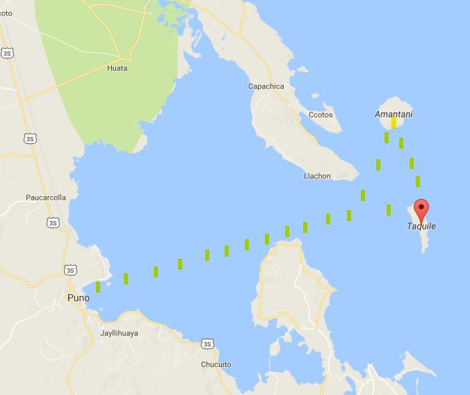 mapa lago titicaca