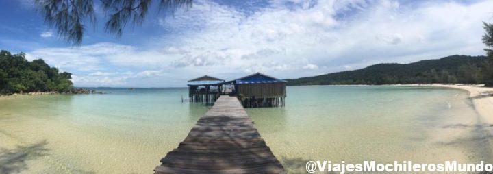 playa de koh rong samlon en camboya