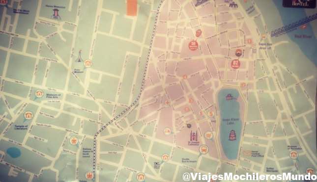 mapa de hanoi que visitar y sitios que ver