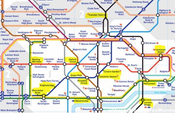mapa de metro londres