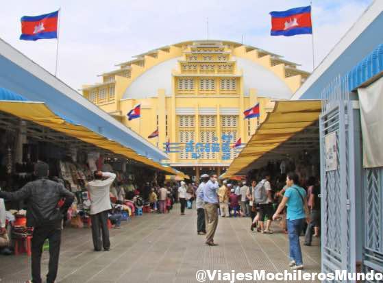 mercado central de nom pen camboya
