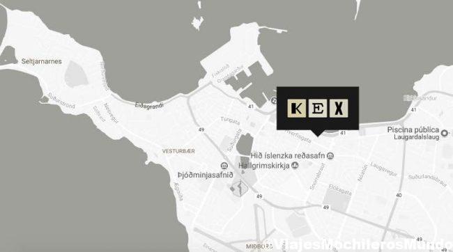 kex hostel en el centro de Reykjavik