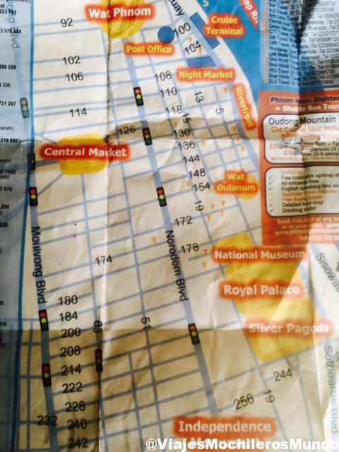 mapa de phnom phen camboya que ver