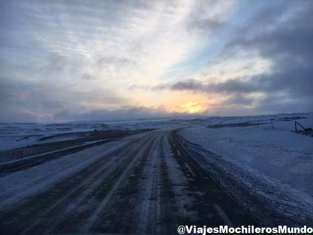 carreteras en Marzo en Islandia