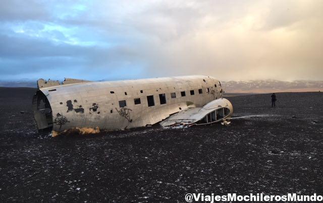 avion estrellado islandia