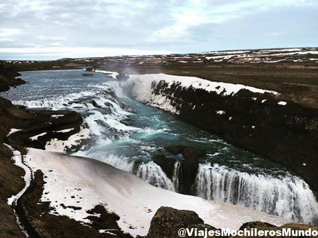 gulfoss islandia cascada