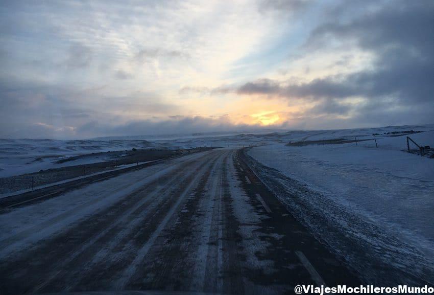 carreteras invierno Marzo en Islandia