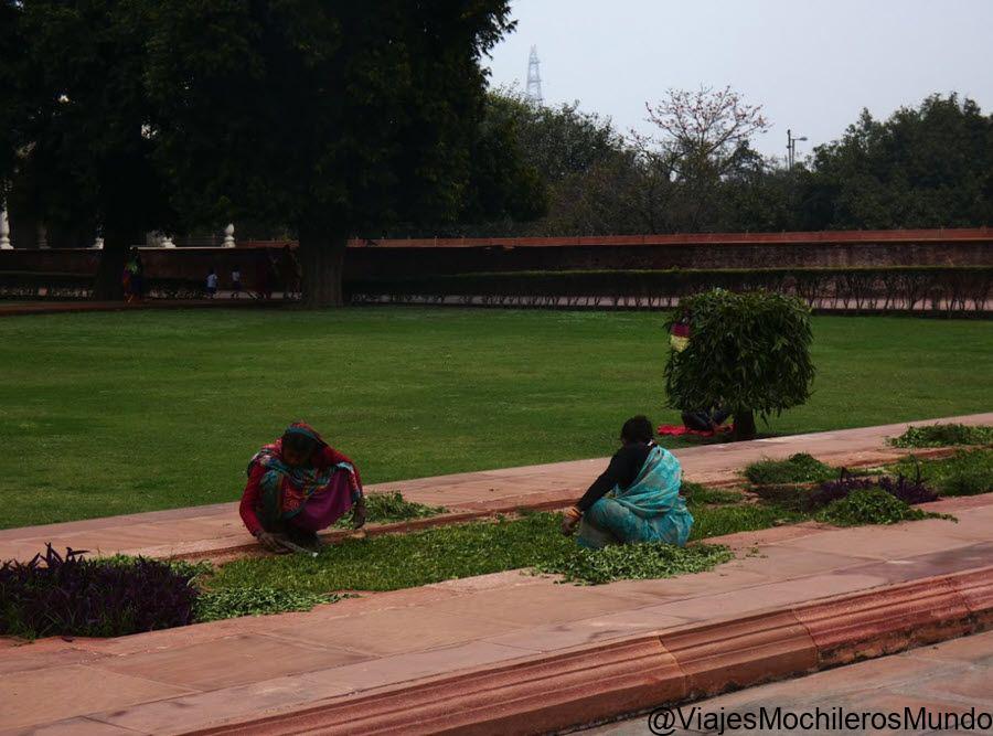 jardines del fuerte rojo de delhi
